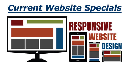 Responsive website packages image and link