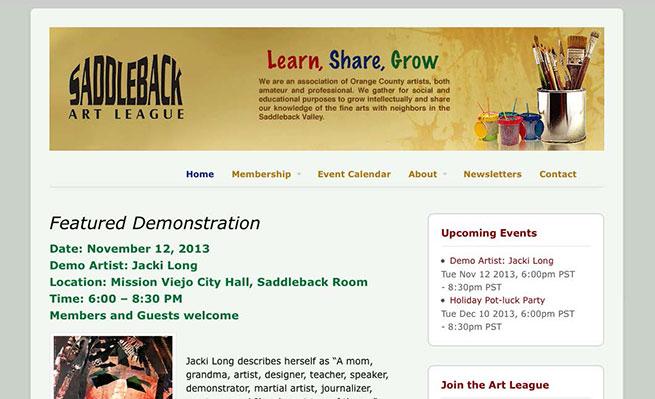 saddlebackartleague.com