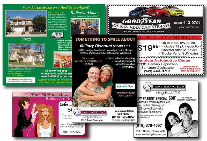 Examples of print advertising