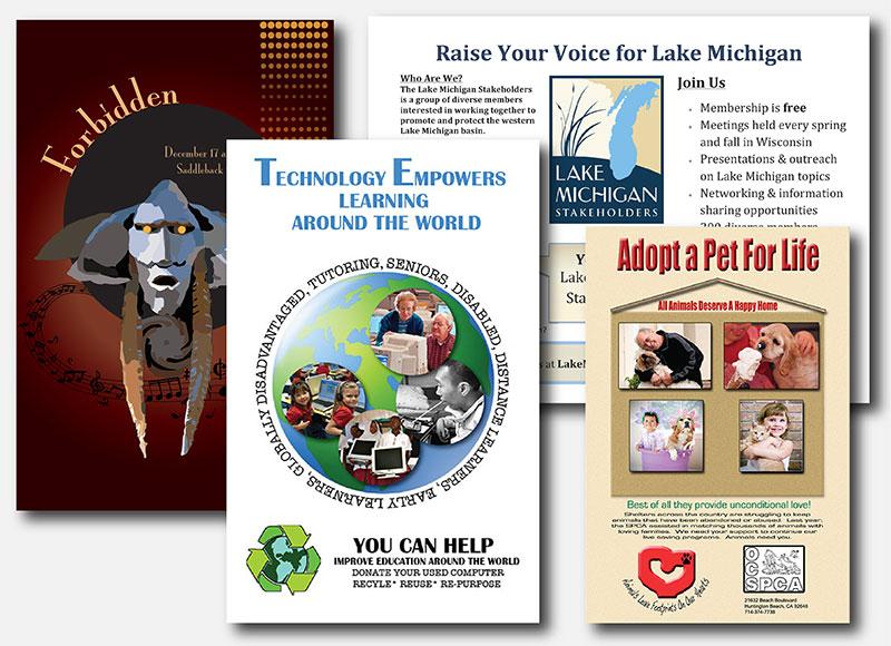 examples of nonprofit print materials