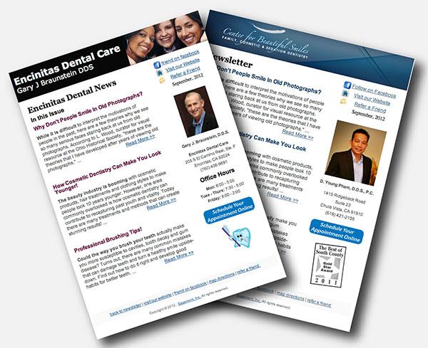 Digital eNewsletter for Dentists