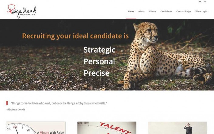 Paige Mead Recruiting Website